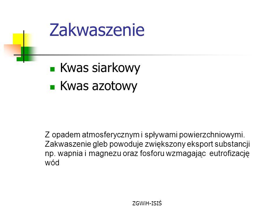 Zakwaszenie Kwas siarkowy Kwas azotowy