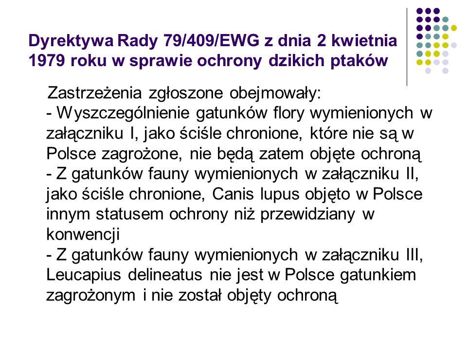 Dyrektywa Rady 79/409/EWG z dnia 2 kwietnia 1979 roku w sprawie ochrony dzikich ptaków