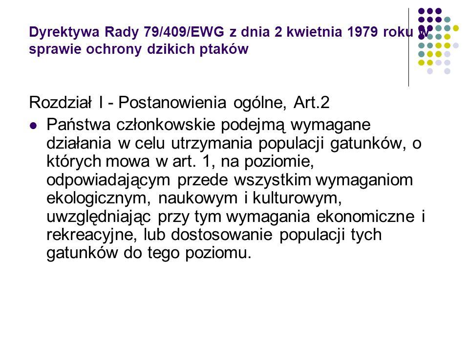 Rozdział I - Postanowienia ogólne, Art.2