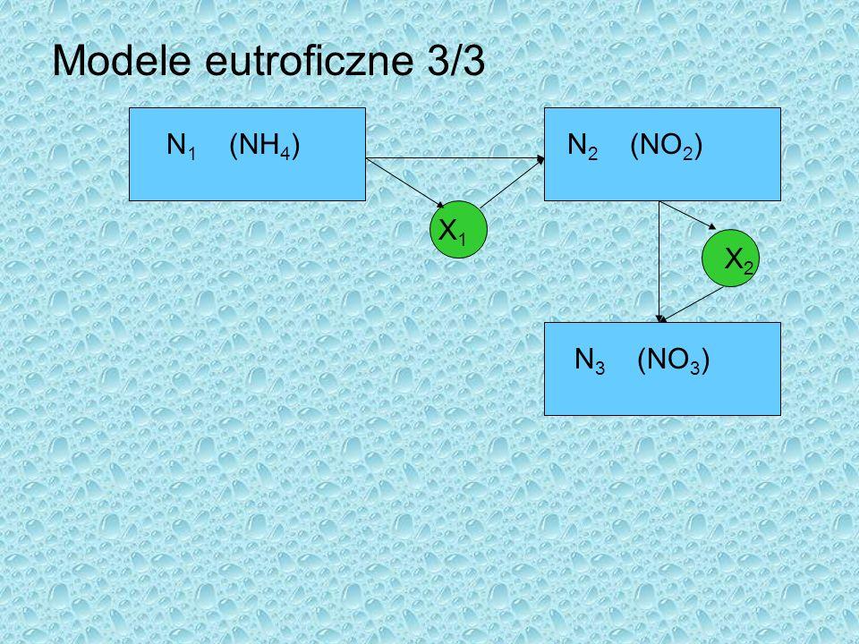 Modele eutroficzne 3/3 N1 (NH4) N2 (NO2) X1 X2 N3 (NO3)