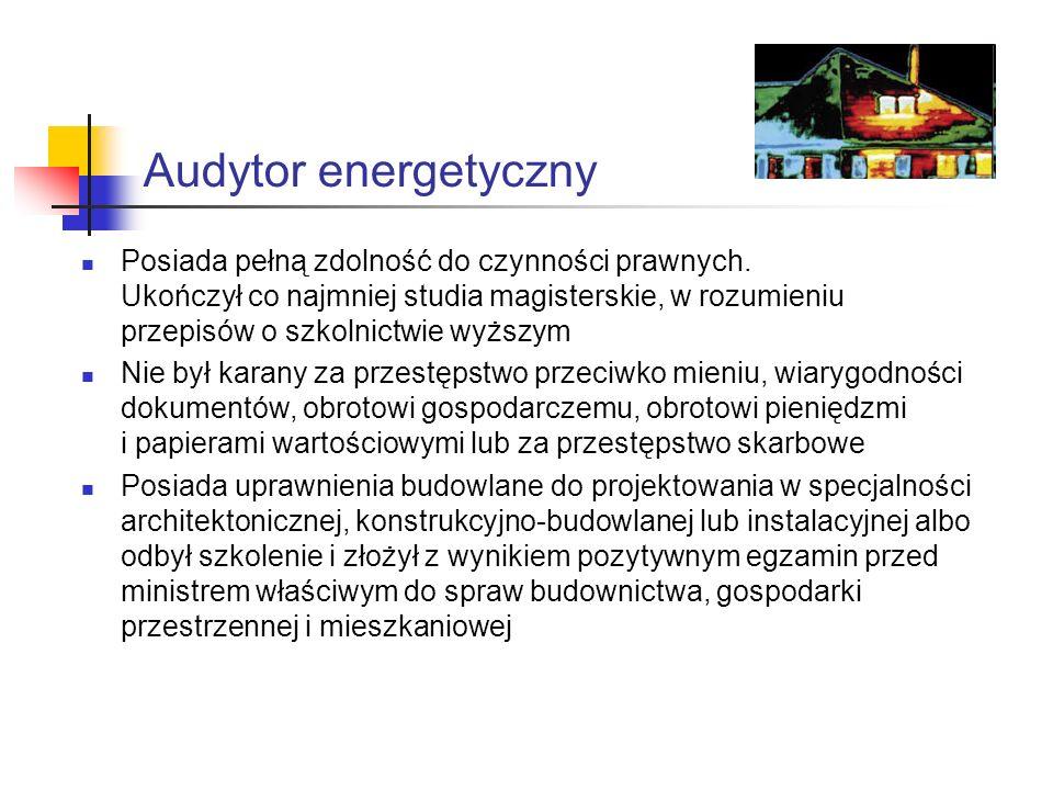 Audytor energetyczny