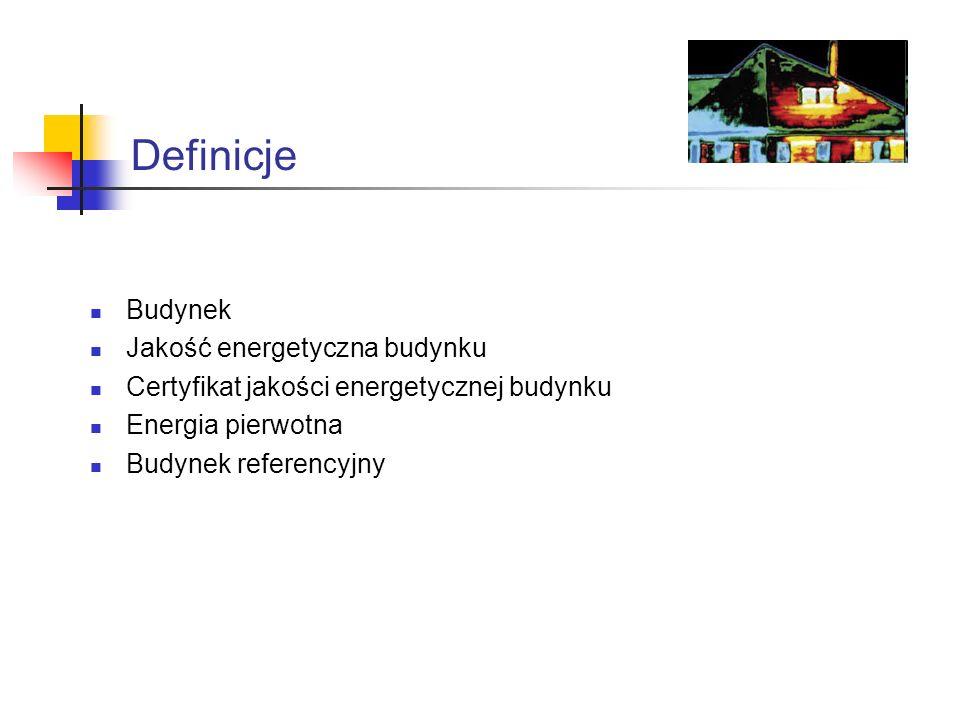 Definicje Budynek Jakość energetyczna budynku