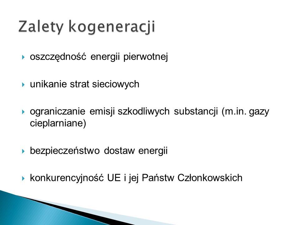 Zalety kogeneracji oszczędność energii pierwotnej
