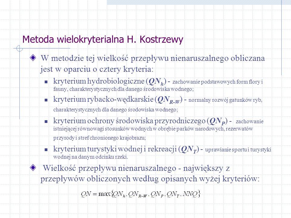 Metoda wielokryterialna H. Kostrzewy