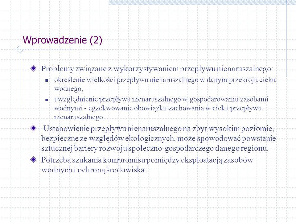 Wprowadzenie (2) Problemy związane z wykorzystywaniem przepływu nienaruszalnego: