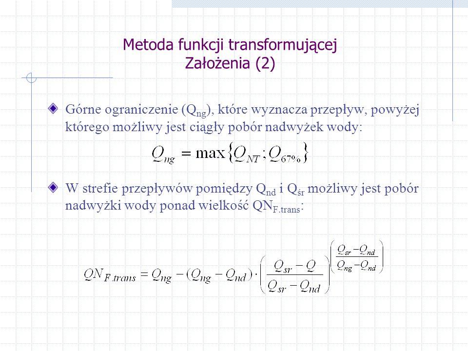 Metoda funkcji transformującej Założenia (2)