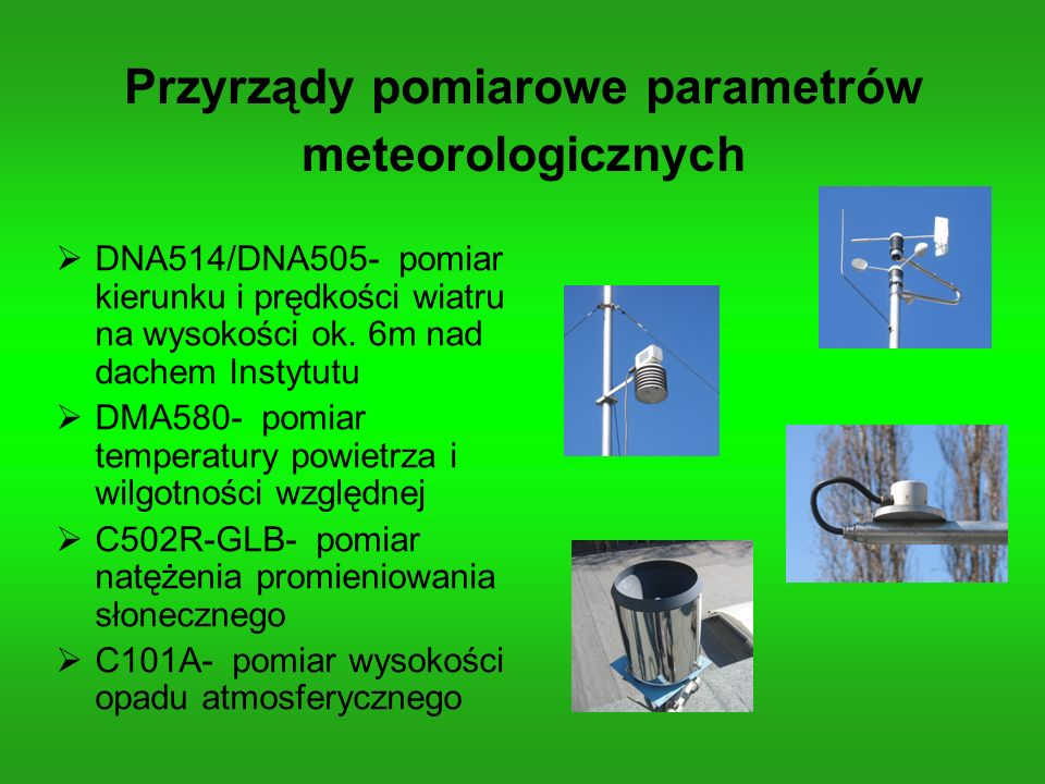 Przyrządy pomiarowe parametrów meteorologicznych