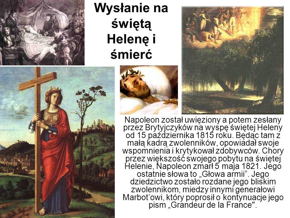 Wysłanie na świętą Helenę i śmierć