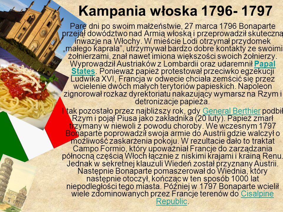 Kampania włoska 1796- 1797