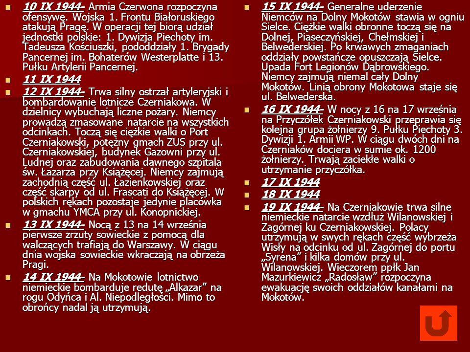 10 IX 1944- Armia Czerwona rozpoczyna ofensywę. Wojska 1