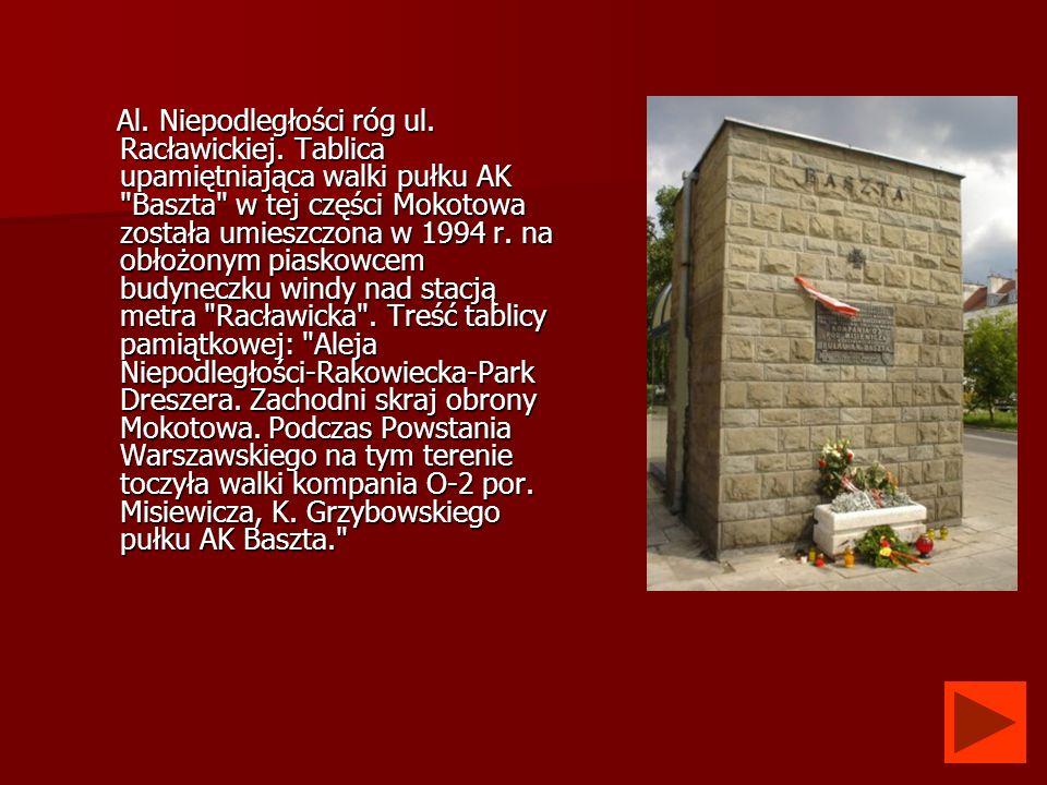 Al. Niepodległości róg ul. Racławickiej