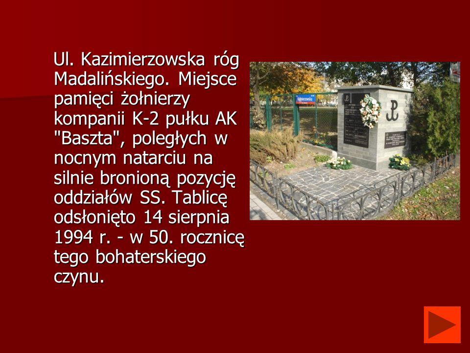 Ul. Kazimierzowska róg Madalińskiego