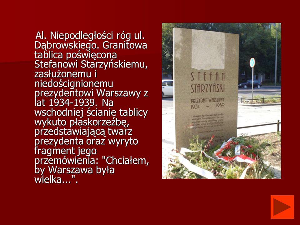 Al. Niepodległości róg ul. Dąbrowskiego