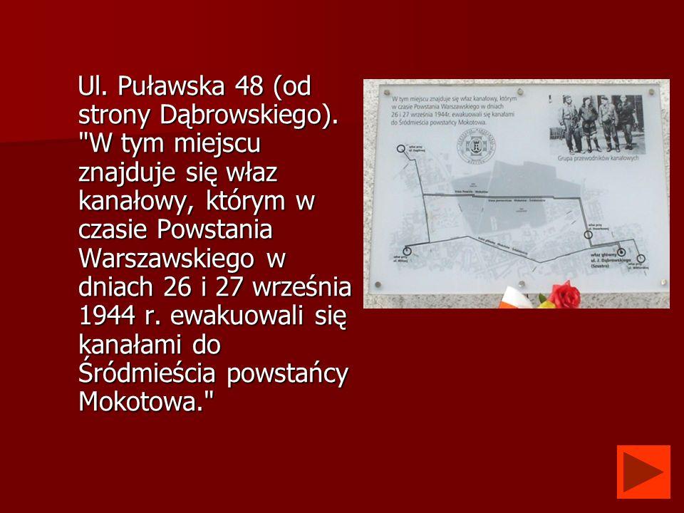 Ul. Puławska 48 (od strony Dąbrowskiego)