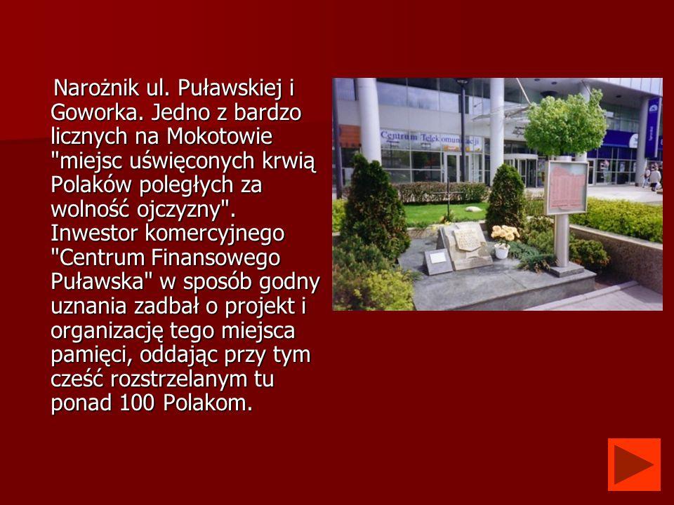 Narożnik ul. Puławskiej i Goworka