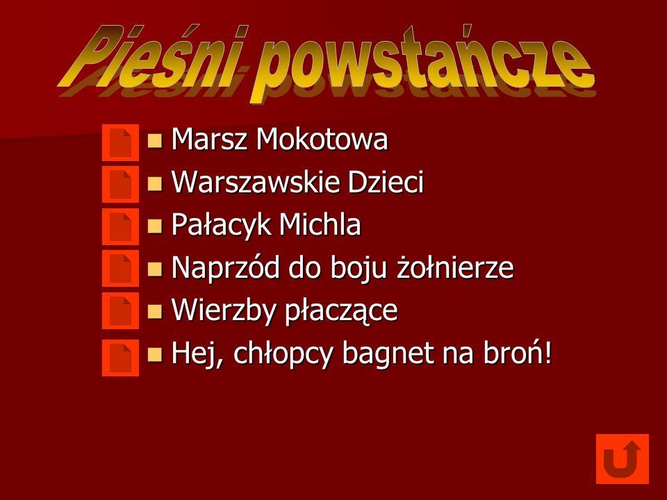 Pieśni powstańcze Marsz Mokotowa Warszawskie Dzieci Pałacyk Michla