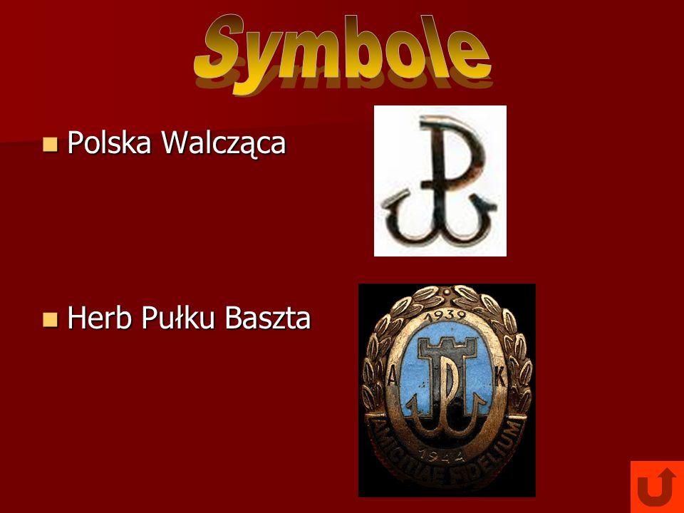 Symbole Polska Walcząca Herb Pułku Baszta