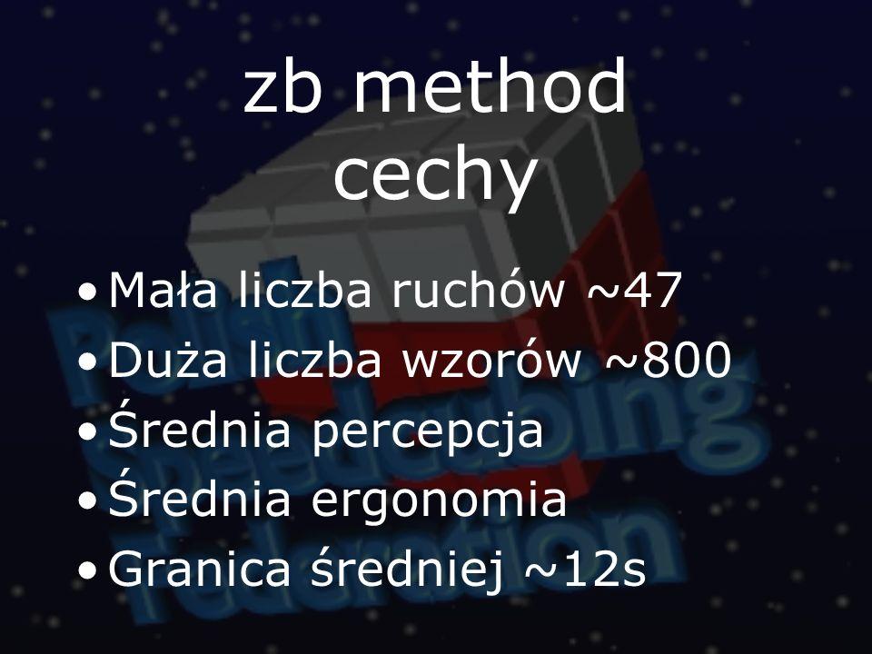 zb method cechy Mała liczba ruchów ~47 Duża liczba wzorów ~800