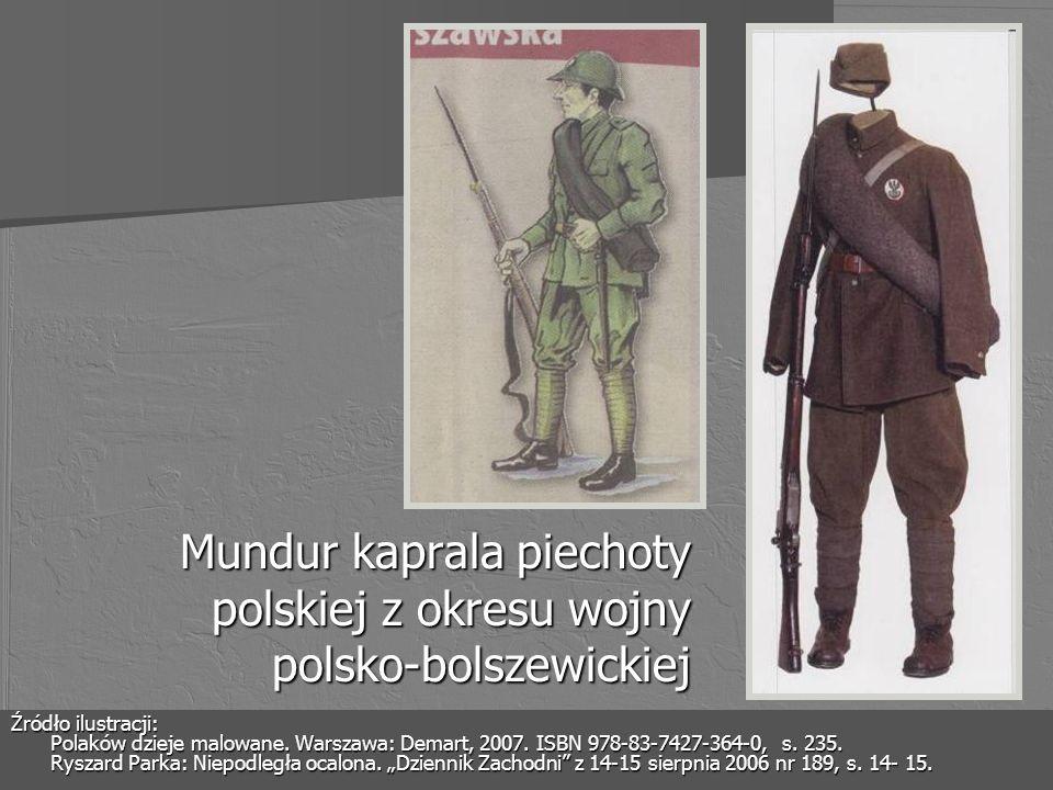 Mundur kaprala piechoty polskiej z okresu wojny polsko-bolszewickiej