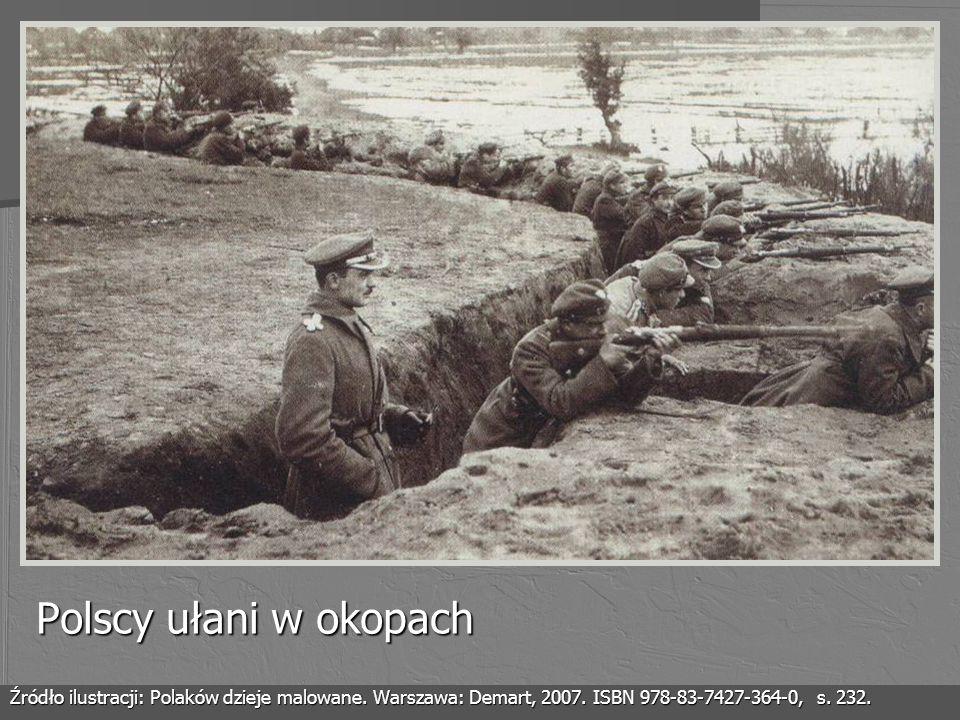 Polscy ułani w okopachŹródło ilustracji: Polaków dzieje malowane.