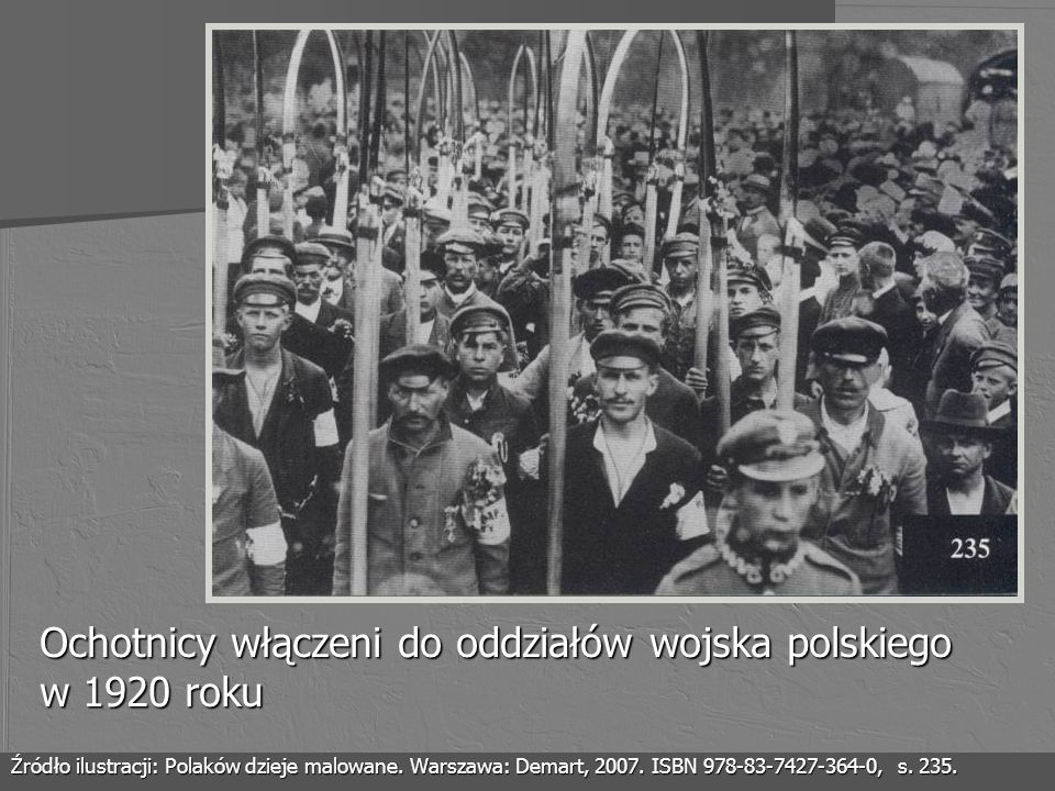 Ochotnicy włączeni do oddziałów wojska polskiego w 1920 roku