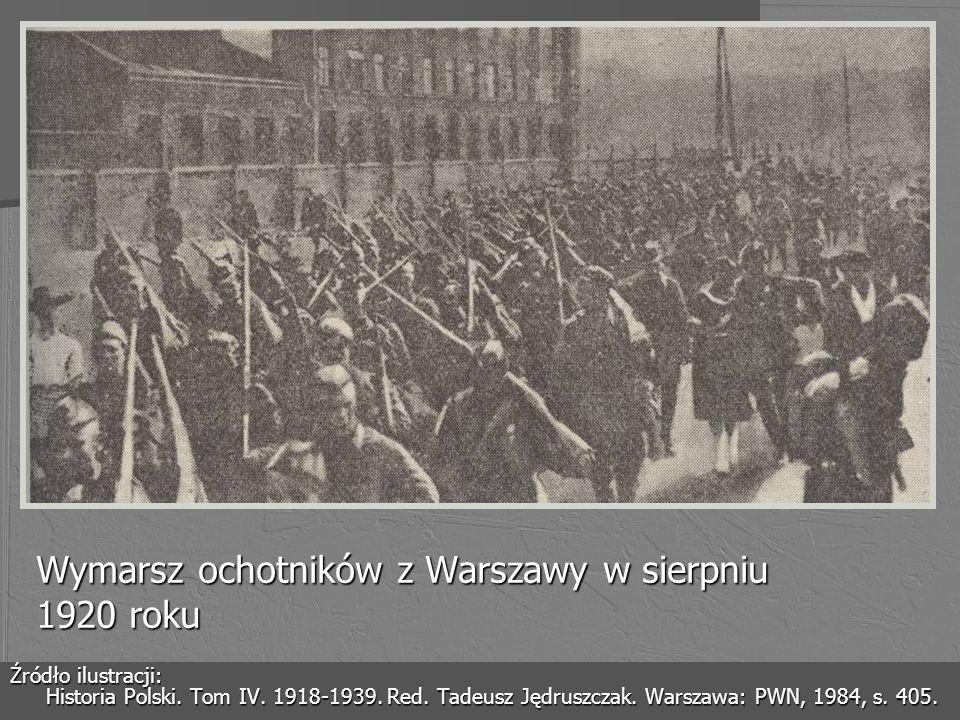 Wymarsz ochotników z Warszawy w sierpniu 1920 roku