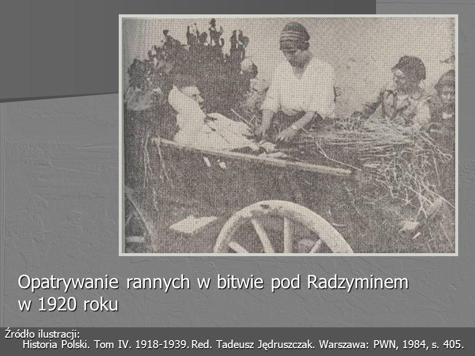 Opatrywanie rannych w bitwie pod Radzyminem w 1920 roku