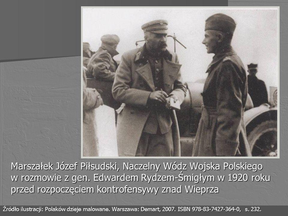 Marszałek Józef Piłsudski, Naczelny Wódz Wojska Polskiego w rozmowie z gen. Edwardem Rydzem-Śmigłym w 1920 roku przed rozpoczęciem kontrofensywy znad Wieprza