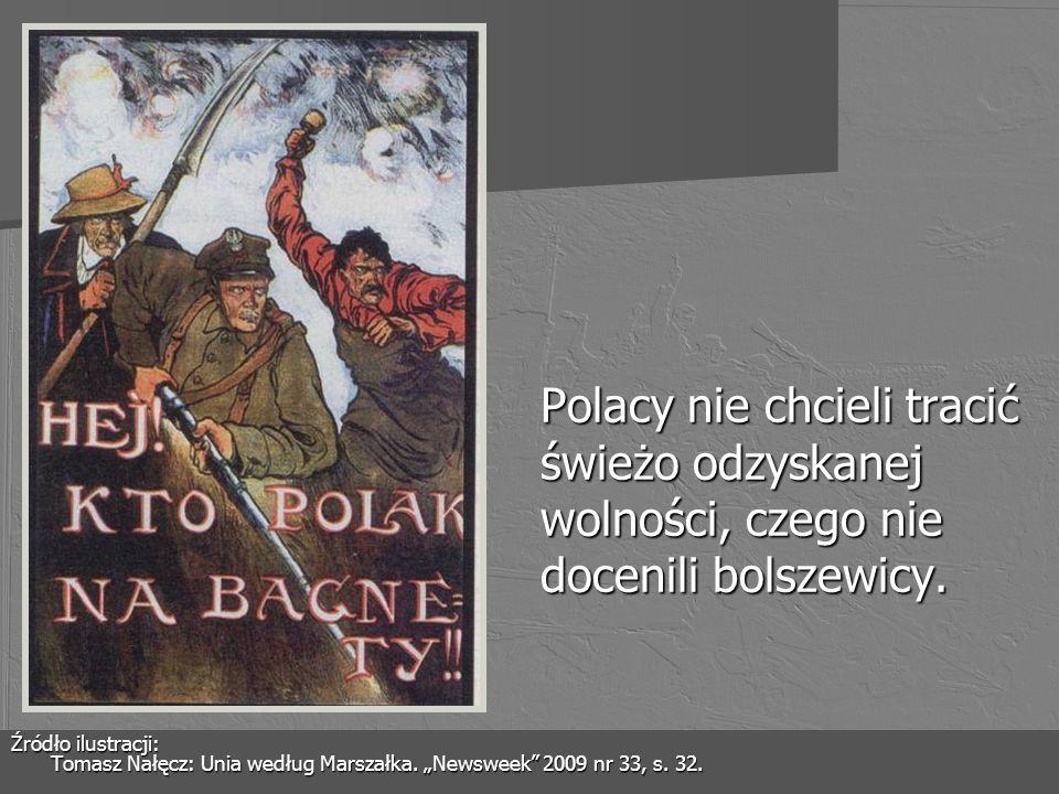 Polacy nie chcieli tracić świeżo odzyskanej wolności, czego nie docenili bolszewicy.