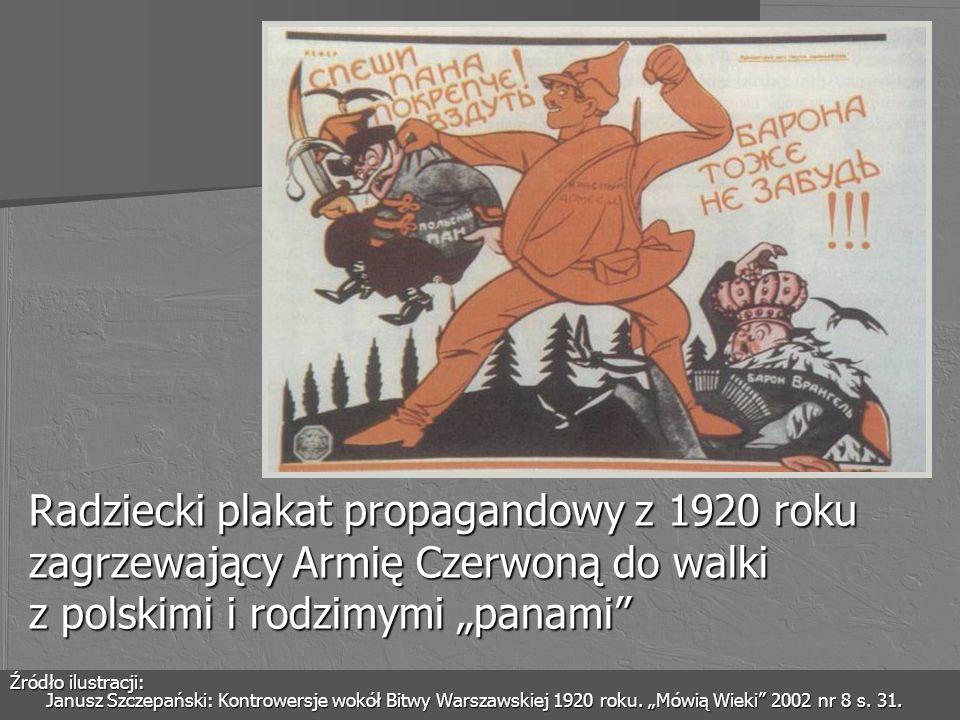 """Radziecki plakat propagandowy z 1920 roku zagrzewający Armię Czerwoną do walki z polskimi i rodzimymi """"panami"""