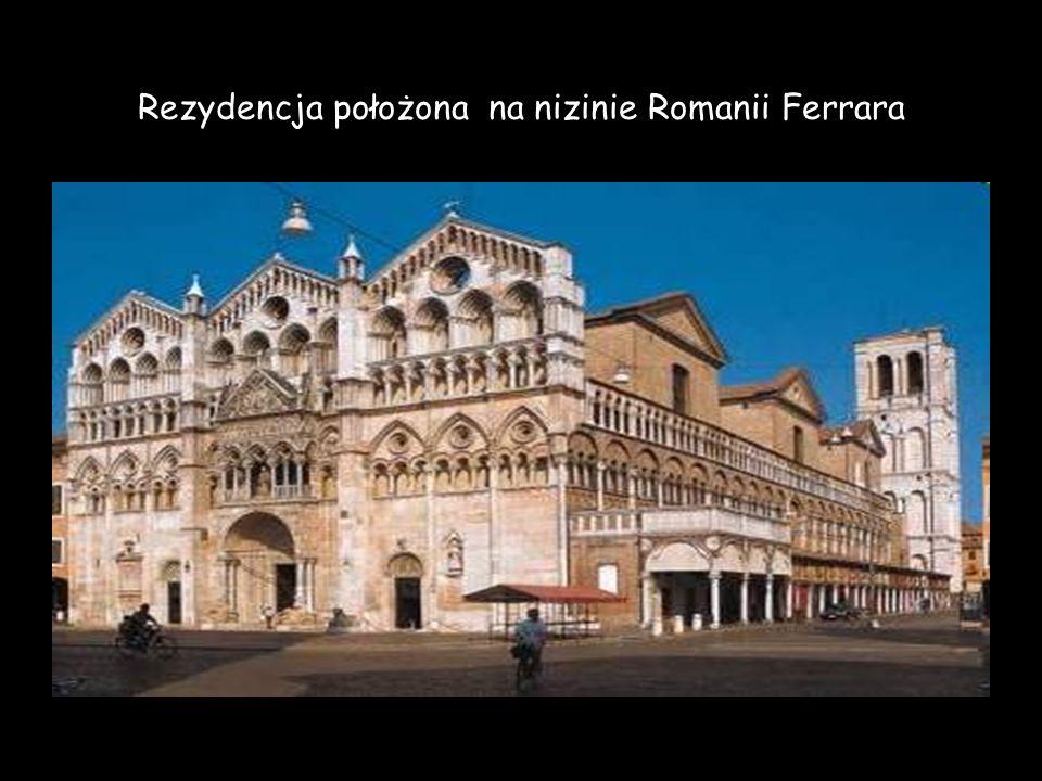 Rezydencja położona na nizinie Romanii Ferrara