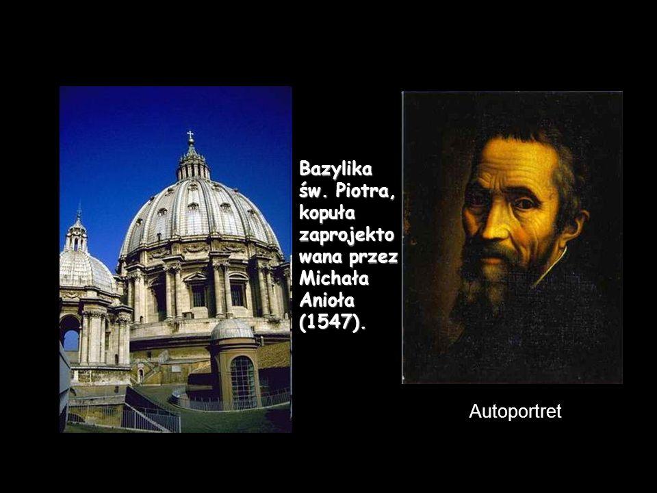 Bazylika św. Piotra, kopuła zaprojektowana przez Michała Anioła (1547).
