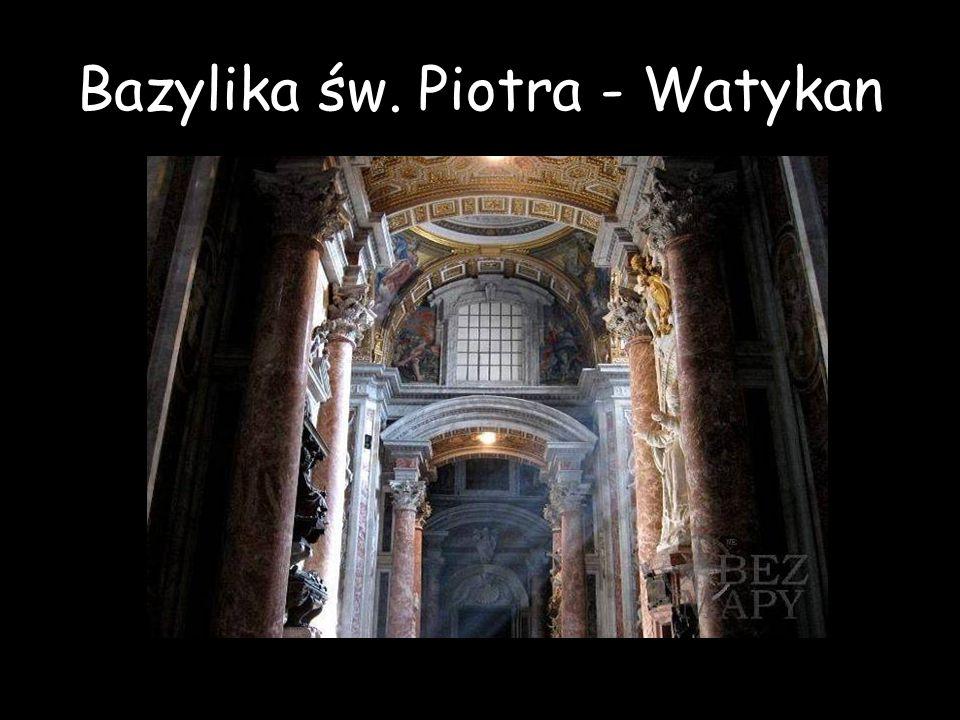 Bazylika św. Piotra - Watykan