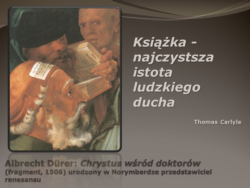 Książka - najczystsza istota ludzkiego ducha Thomas Carlyle