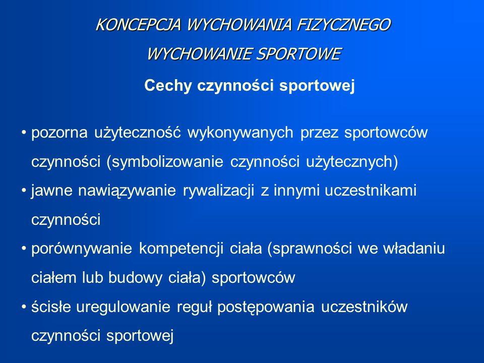 Cechy czynności sportowej