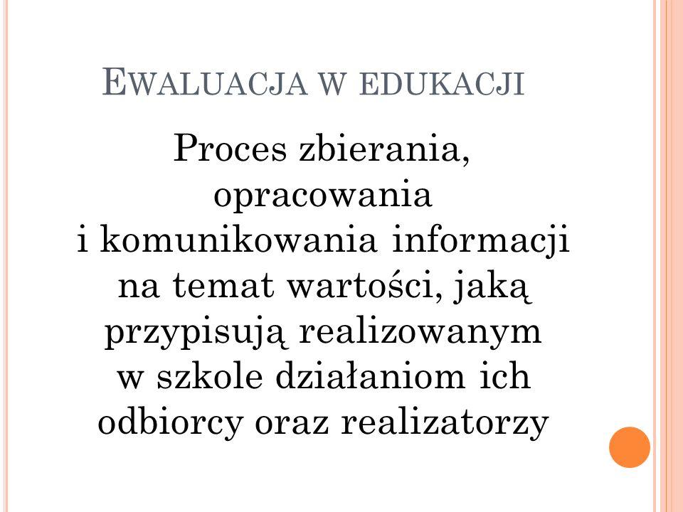 Ewaluacja w edukacji