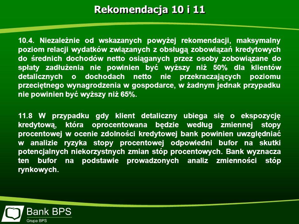 Rekomendacja 10 i 11