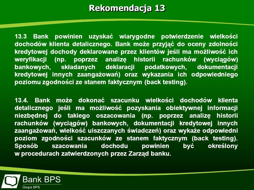 Rekomendacja 13