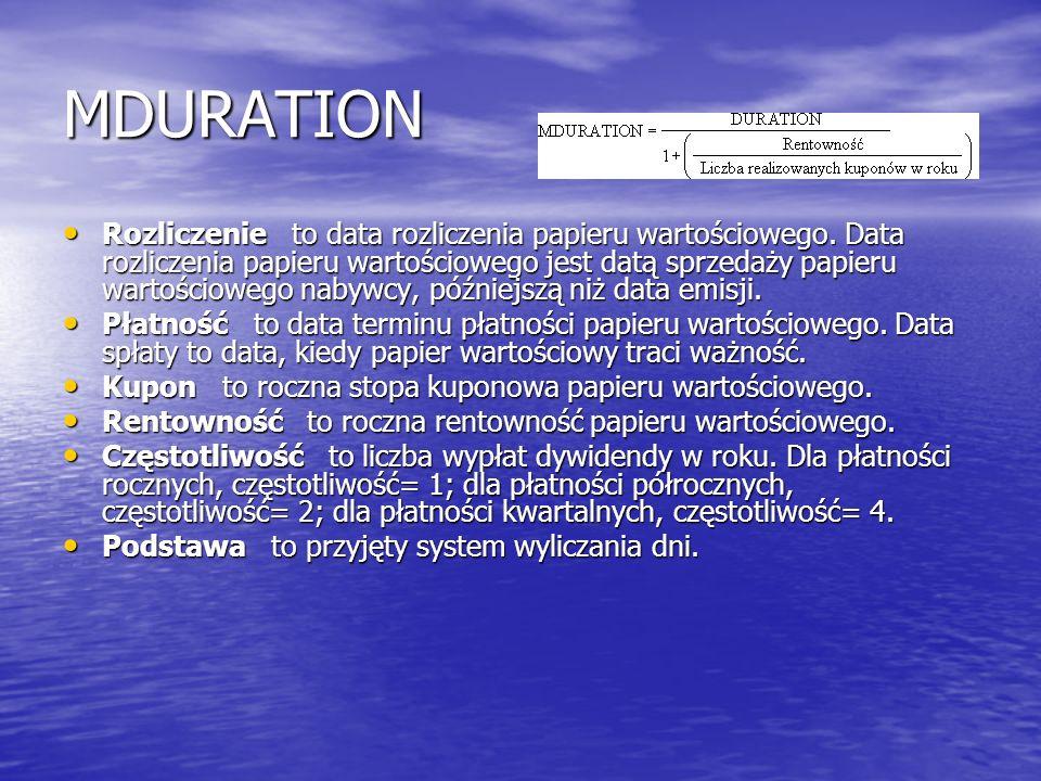 MDURATION