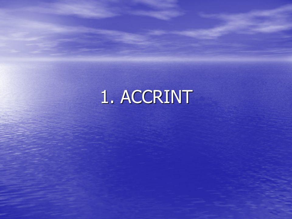1. ACCRINT