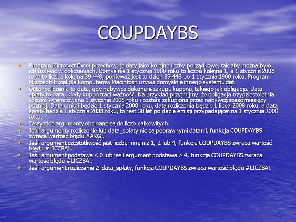 COUPDAYBS