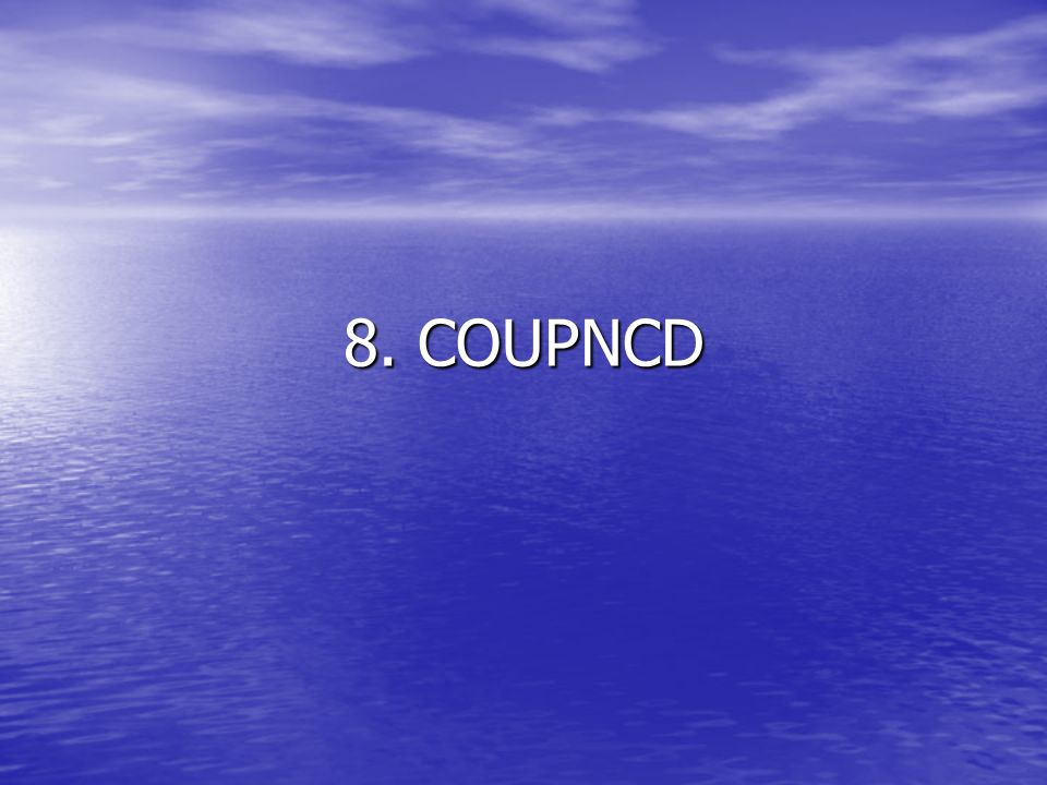 8. COUPNCD