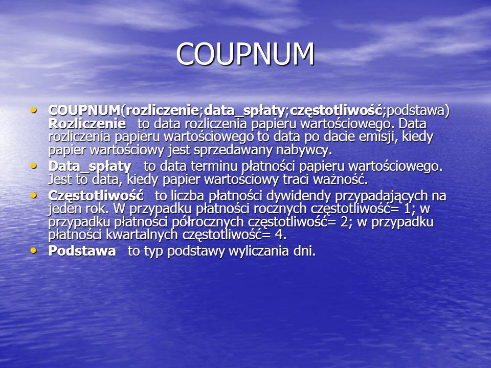 COUPNUM