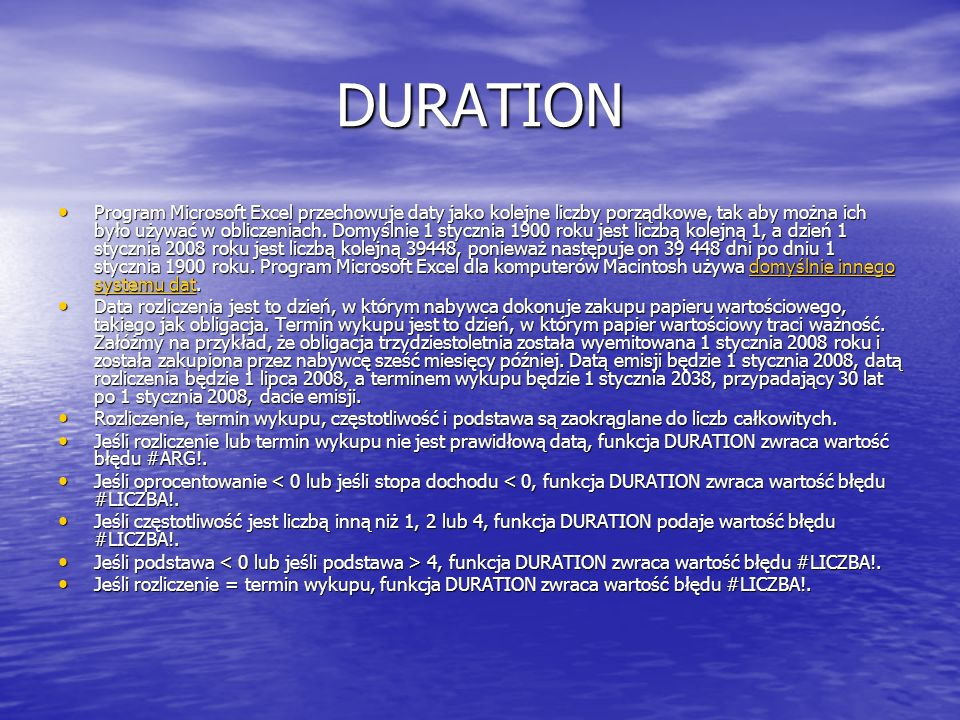 DURATION