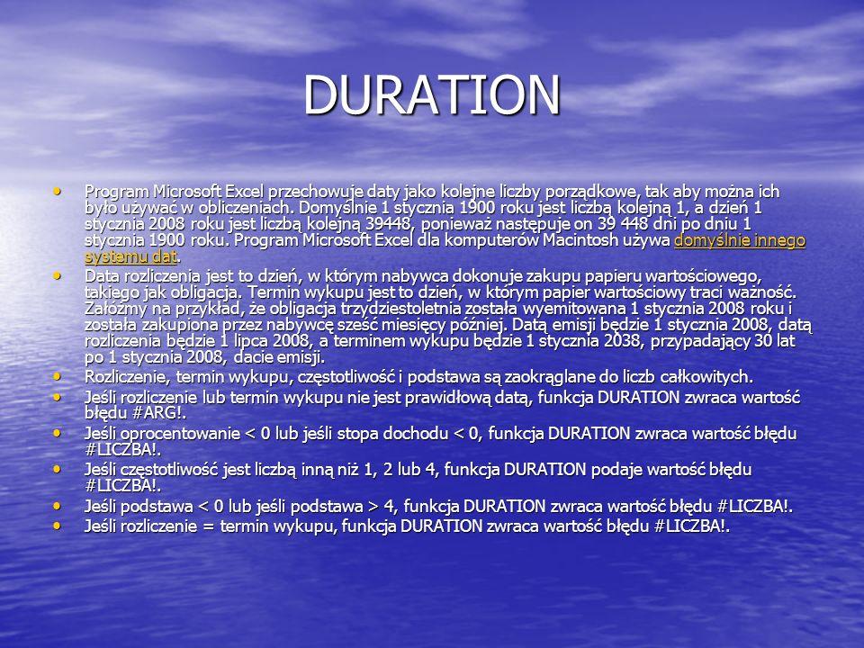DURATION