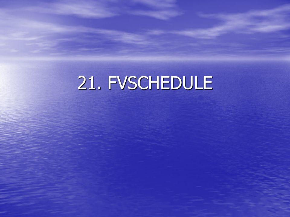 21. FVSCHEDULE