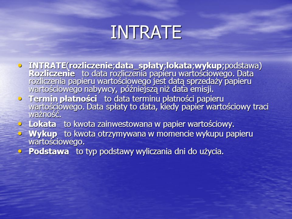 INTRATE
