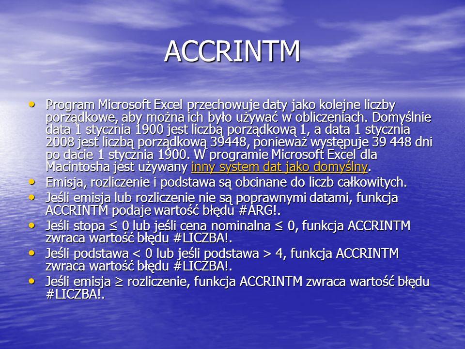 ACCRINTM