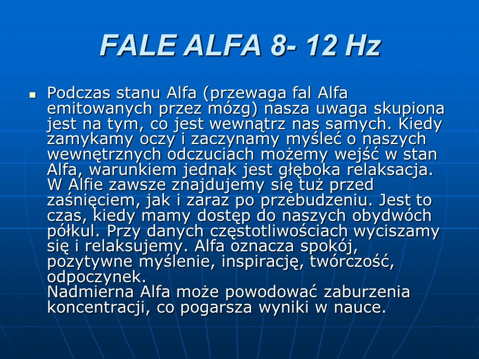 FALE ALFA 8- 12 Hz