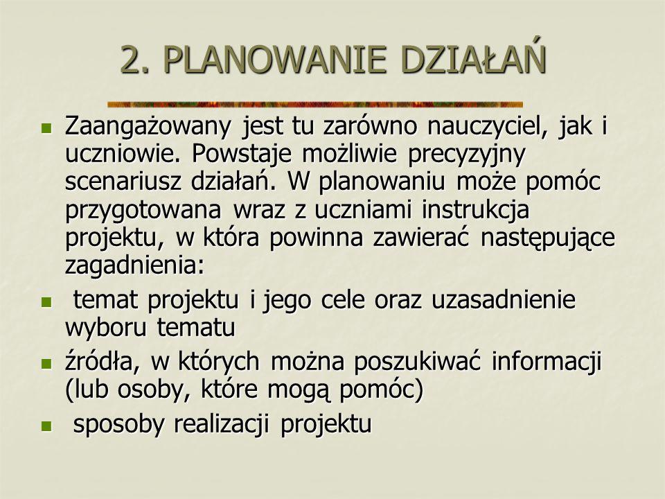 2. PLANOWANIE DZIAŁAŃ